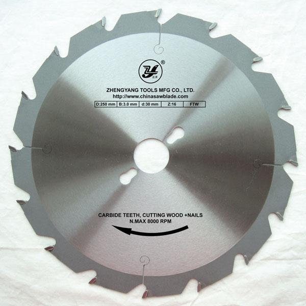Circular saw blade for hardwood plywood